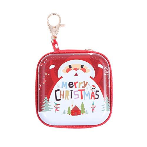 Mini-Münztasche mit Weihnachtsmann-Motiv, mit Reißverschluss, für Geschenke