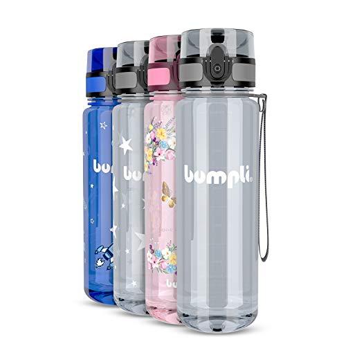 bumpli® Kinder Trinkflasche mit verschiedenen Motiven - auslaufsicher & Kohlensäure geeignet - BPA-Freie Kindertrinkflasche für die Schule, Kindergarten, Sport