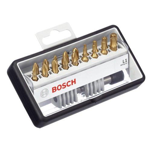 Bosch 2 607 002 581 - Set de 18+1 puntas de atornillar Robust Line, L Max Grip -...