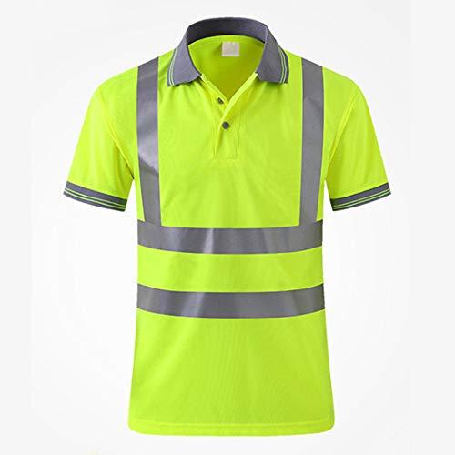 XXHDEE droogkleding, snel reflecterend, ademend, voor dames en heren, korte mouwen, hygiënisch, reflecterend vest