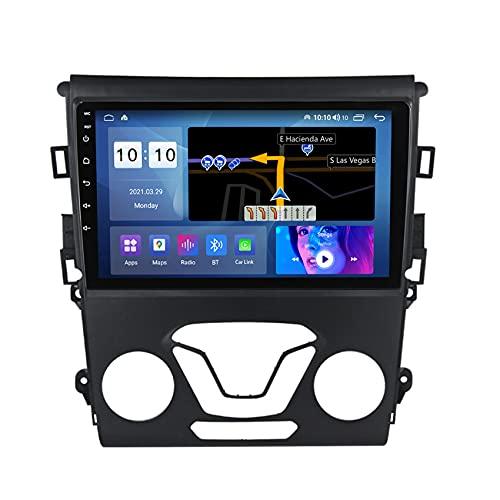 ADMLZQQ Android 10 Car Stereo Autoradio Radio De Coche para Ford Mondeo 2014-2019 Coche Navegación con FM/USB/Mandos Volante Manos Libres Bluetooth cámara de visión Trasera,M150s