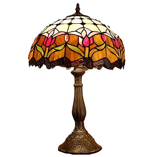Lámpara Escritorio Lámpara de estilo europeo de mesa lámpara de mesa de café comedor sala de estar sala de estar decoración americana campo rural lotus estudio tiffany estilo mesa de mesa 30 * 50 cm