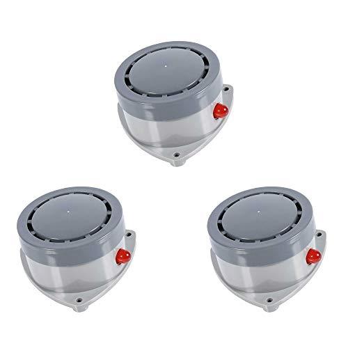 KOOBOOK 3Pcs High Decibel Water Leakage Detector Sensor Household Water Leak Monitor Sound Light Alarm Device Waterproof