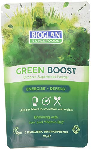 Bioglan Superfood Green Boost | Barleygrass | Wheatgrass | Spirulina | Chlorella | Spinach | Kale | 70g