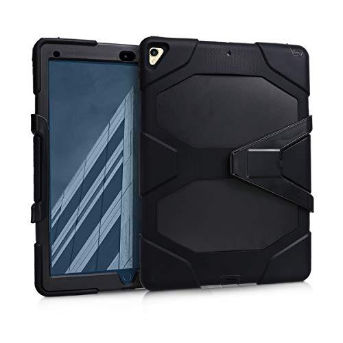 kwmobile Custodia Hybrid Protettiva Compatibile con Apple iPad PRO 12,9  (2015 2017) - Doppia Custodia per Tablet in Gomma e plastica - Nero