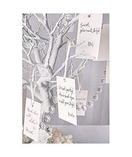 Tarjetas sencillas para árbol de los deseos (10 uds) - Arboles de los Deseos Tarjetas Colgantes para Colegar, ideales para Bodas