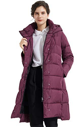 Orolay Women's Hooded Down Jacket Long Winter Coat