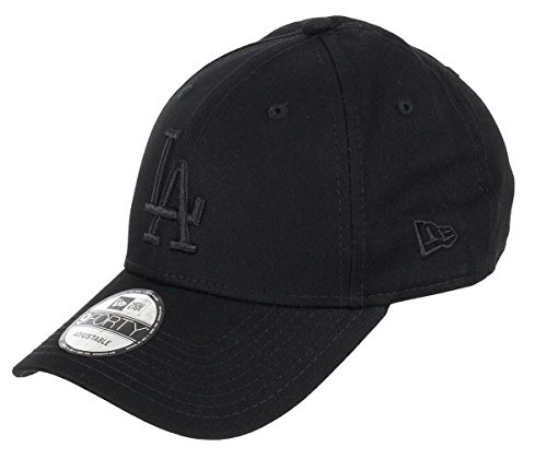 New Era Los Angeles Dodgers 9forty Adjustable Cap League Essential Black On Black - One-Size
