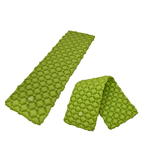 CapsA Sleeping Pad Camping Mat self Inflating Sleeping pad Ultralight Outdoor Indoor Inflatable Air Mattress TPU Inflating Travel Air Bed for Camping Backpacking Hiking Hammock Tent Cot (Green)