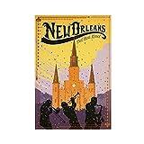 Retro-Poster, New Orleans Leinwand-Poster, Wandkunst, Deko,
