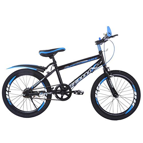 Teens Hardtail Mountain Bike for Boys, Stone Mountain 20 inch 7 Speed Bicycle, Full Suspension Non-Slip Dual Disc Brakes Bike, Best Birthday for Friends (Blue, from US)