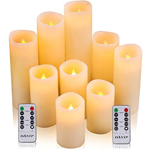 DANIP Flammenlose Kerzen Batteriebetriebene Kerzen 4