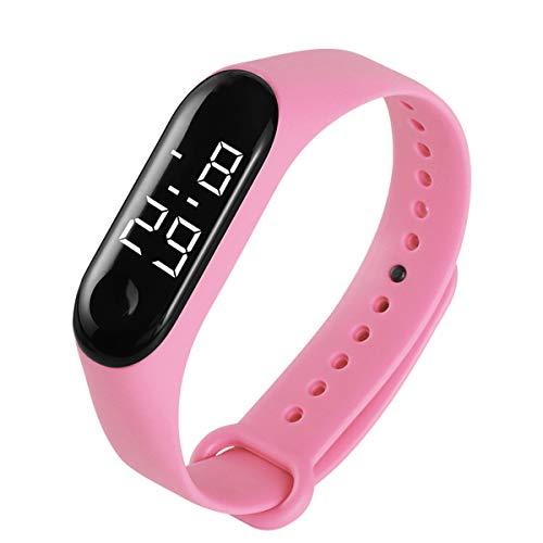 Borlai Fitness Led Reloj Digital Control Táctil Impermeable Cronómetro Deportivo Reloj de Pulsera para Mujeres Y Hombres