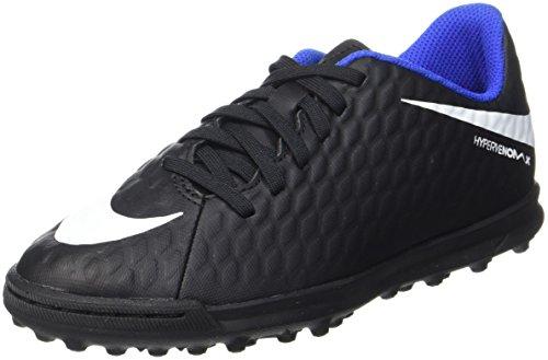 Nike Jr Hypervenomx Phade III TF, Botas de fútbol Unisex niños, Negro Black, 36.5 EU