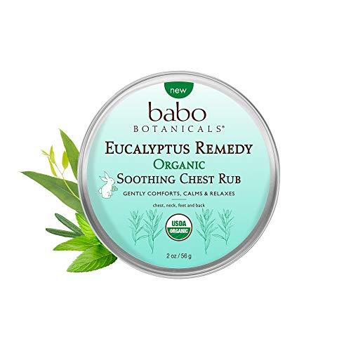 Babo Botanicals Eucalyptus Remedy Plant Based Soothing Chest Rub, Organic, Vegan - 2 oz.