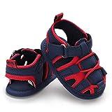 Infant Baby Boys Girls Summer Beach Breathable AthleticSports Anti-Slip Sandals Soft Sole Newborn First Walker Crib Shoes(A-RedBlue) S2