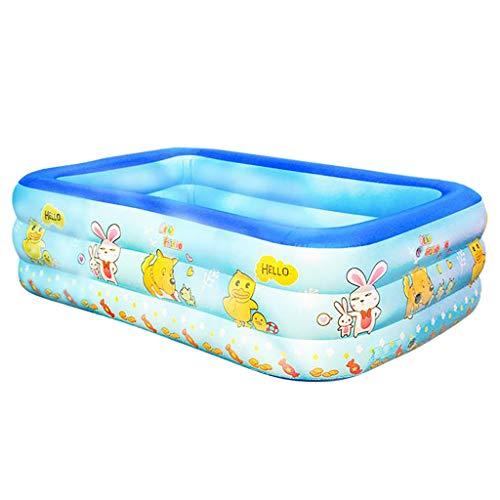 SINGOing Umbo-Planschbecken - Family Pool - Riesen Rectangular Pool - aufblasbarer Pool - Badewanne Kinder 3 Ring Aufstellpool für Garden Outdoor Summer (105x90x35cm)