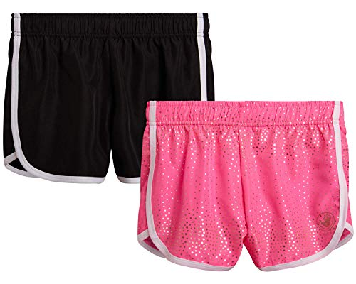 Body Glove Girls 4-Pack Athletic Gym Workout Yoga Dolphin Running Shorts