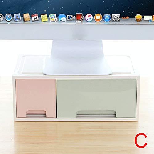 Hvoz PC Monitor & Projector Stands, LCD Monitor Stand Houder Beugel met Office Lade Opbergdoos Organizer voor Desktop