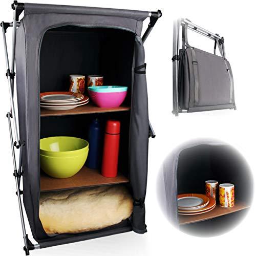 Camping Faltschrank/Klappbarer Campingschrank/Regal/Optimal für die Camping Küche