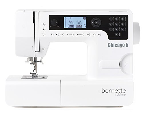 Bernette Chicago 5 - Nähmaschine mit 200 Programmen, Professionelle Nähen, Freiarm mit Einfädelhilfe - Quilten und Patchwork - Swiss Design