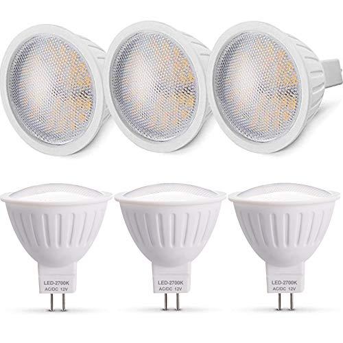 MR16 LED Lampe GU5.3 7W Strahler, Warmweiss 2700K Ersatz für 50W Halogenlampen, 12V 700LM Nicht Dimmbar 120° Abstrahlwinkel Spot 6er-Pack