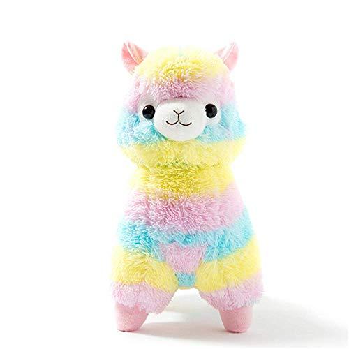 Regenbogen Plüsch Alpaka,süße weiche Kuscheltiere.Rainbow weich gefüllte Puppe Spielzeug Plüschspielzeug Baby Stofftier Valentinstag Geburtstag Weihnachten Hochzeitstag Geschenke (50cm)