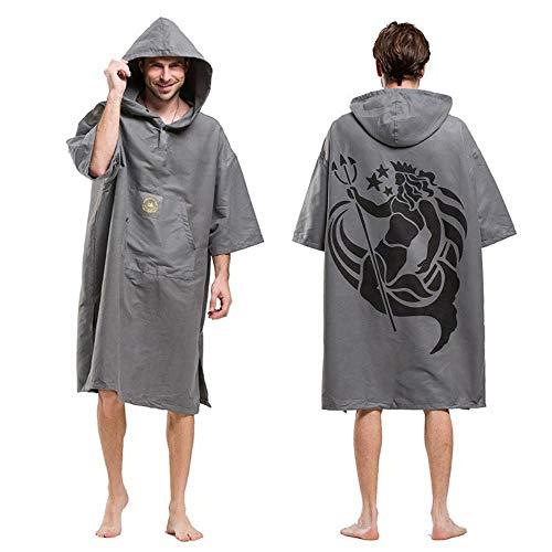 Gbcyp Fashion Printing Changing Robe Toalla de baño Al aire libre Adulto con capucha Toalla de playa Poncho Albornoz Toallas Mujer Hombres Albornoz