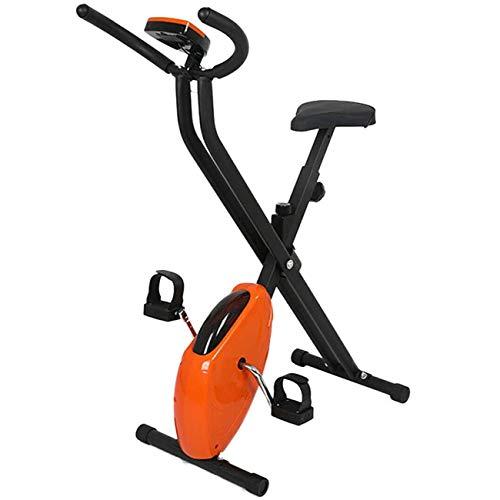 Indoor Cycling Hometrainer Opvouwbare magnetische hometrainer met LCD-scherm, spanningsregeling op meerdere niveaus, instelbare weerstand, hometrainer Ligfiets Home Gym Fitness Workout Machine