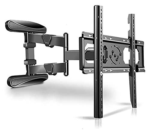 TabloKanvas Soporte de TV de pared de 40 a 80 pulgadas, de acero, giratorio de 180 °, para TV de pared fija, expansión, inclinable, panel de pared (color negro)