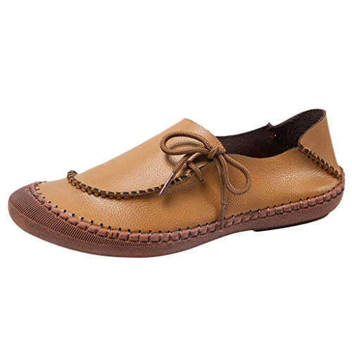 Review Of Women's Loafers Shoes Brown Wide Width Slip-Ons Flat Shoes Ladies Breathable Non-Slip Walk...