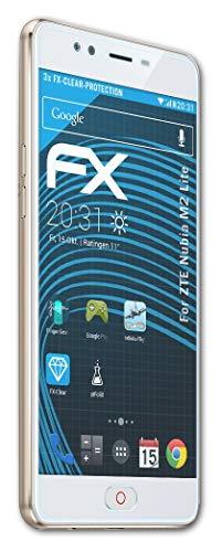 atFolix Schutzfolie kompatibel mit ZTE Nubia M2 Lite Folie, ultraklare FX Bildschirmschutzfolie (3X)
