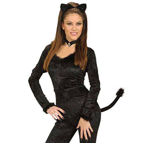 NET TOYS Katzen Kostüm Set - Katzenkostüm Set Tierkostüm Katze Kostümset Fasnet Fastnacht Catwoman Tieroutfit
