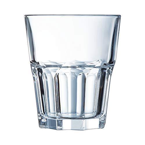 ARC J2612 Confezione 6 Bicchieri Vetro Temperato Graniti, 27 cl, 6 unità