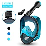 Aegend Full Face Snorkel Mask with Upgraded Safety Breathing System, 180°Panoramic Larger View Snorkel Set Anti-Fog Anti-Leak,...