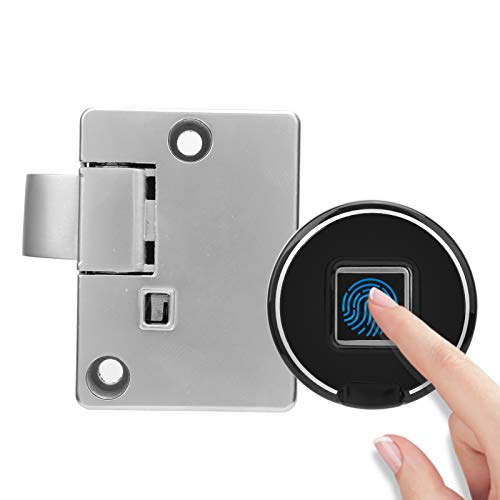 Fingerprint Cabinet Lock, Biometric Keyless Entry Lock Anti‑Theft Low Battery Alert USB Rechargeable
