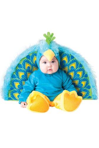 InCharacter Costumes Baby's Precious Peacock Costume, Blue/Yellow, Medium