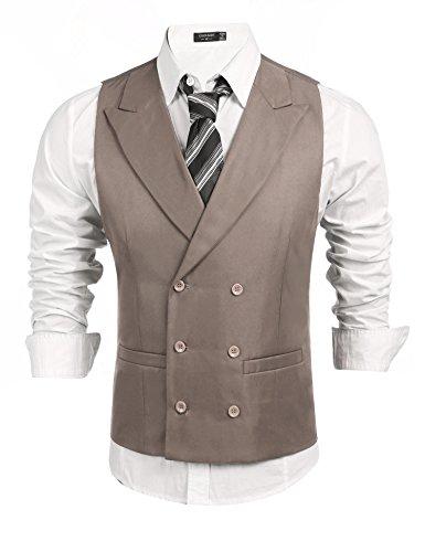 Coofandy Chalecos Vestir Hombre Suit sin Mangas Business