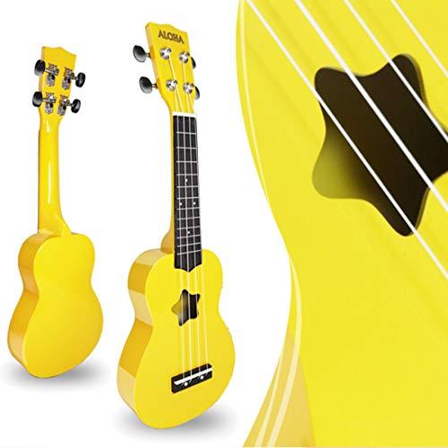 Searchyou - Ukulele Kinder aus Holz, 21 Zoll 4 Strings Kinder Gitarre Musikinstrument Spielzeug für Kinder ab 3 Jahre- Gelb