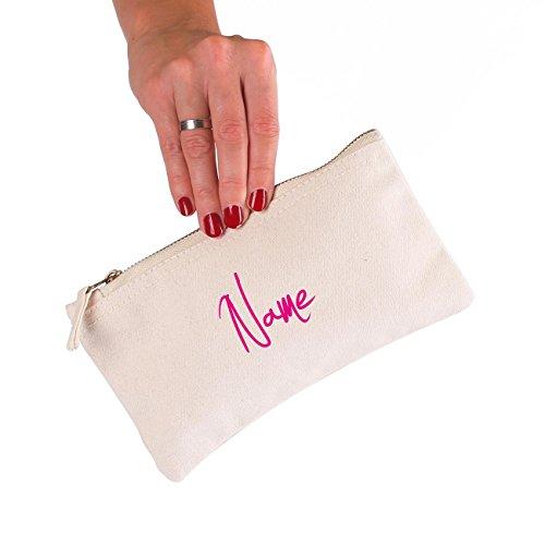 Herz & Heim® kleine Handtasche oder Kosmetiktasche mit Ihrem Namen bedruckt