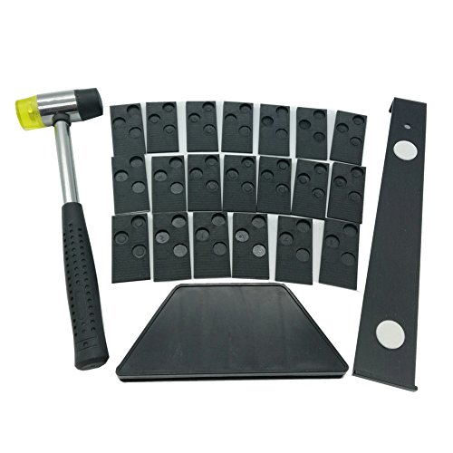Laminate Wood Flooring Installation Kit with 20 spacers,Tapping Block, Pull Bar and Mallet #81224(A)
