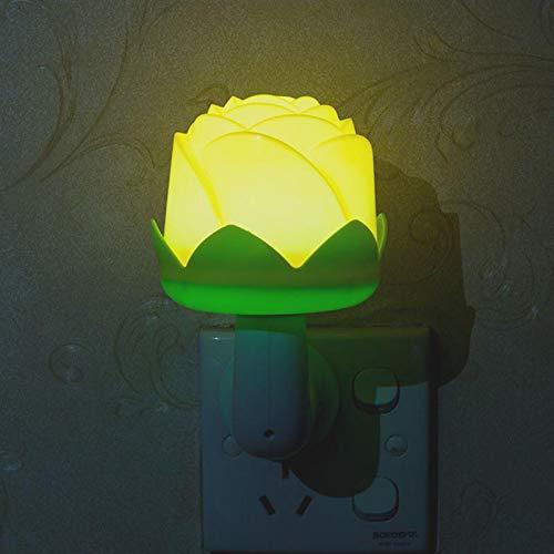 Nachtlichtje Mini Lichten Sensor Controle EU-stekker Roos Lamp voor Kinderen Huiskamer Slaapkamer Verlichting