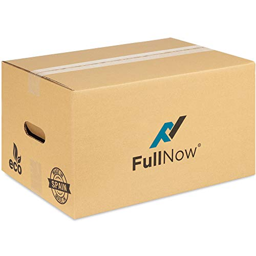 Pack 20 Cajas Cartón con Asas para Mudanza y Almacenaje Ultraresistentes - 430x300x250 mm - Fabricadas en España - Canal Simple Reforzado Calidad Superior - ECO-FRIENDLY