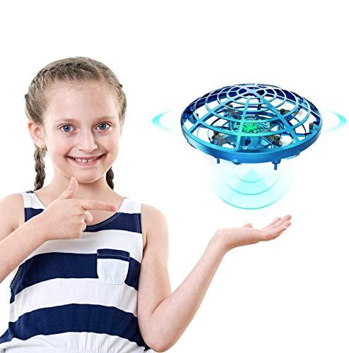 Spielzeug 5-8 Jahren Junge, UFO Mini Flugspielzeug Drohne Handgesteuerter RC Drone Quadcopter, Wiederaufladbar mit 2 Geschwindigkeitsmodellen und LED-Anzeige, 7-12 jährige Mädchen/Jungen