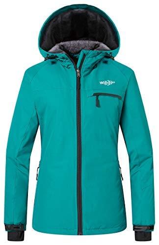 Wantdo Ski Jassen voor Dames Regenjassen Fleece Berg Capuchon