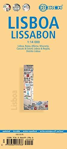 Lissabon 1 : 14 000: Einzelkarten: Lisboa 1:14 000, Baixa, Mouraria, Alfama 1:8 250, Cascais & Estoril 1:12 500, Lisboa & Regiao 1:135 000, Distrido ... Portugal administrative and times zones