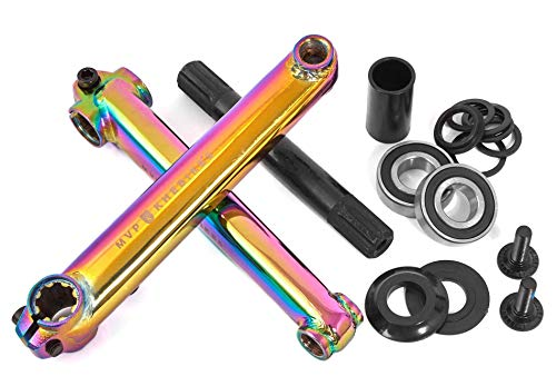 KHE MVP BMX Set di manovelle 8T MID BB CrMo 19 mm asse Oil-Slick Jet Fuel 170 mm – R1