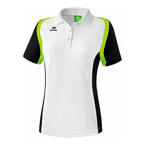 Erima Damen Poloshirt Razor 2.0, Weiß/Schwarz/Green Gecko, 42, 111637