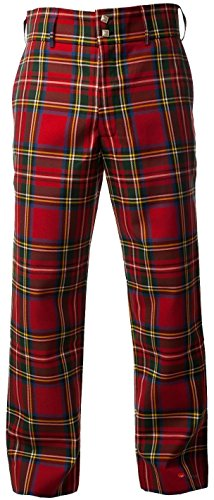 "I Luv Ltd Traditional Scottish Men's Trouser Trews in Stewart Royal Tartan 46"" Regular"