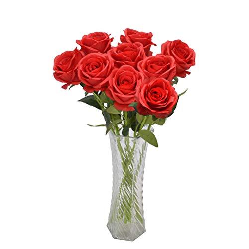 penglai 9 rosas artificiales de seda para decoración del hogar, hotel, flores artificiales de seda, flores de seda, decoración del hogar, hotel, boda, decoración del hogar